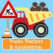 Camions, tracteurs et automobiles