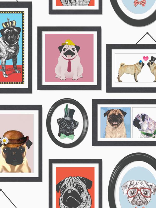 A Pugs Life Pug Frames Wallpaper 11360