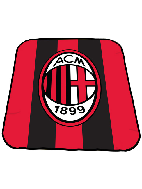 AC Milan FC Crest Fleece Blanket
