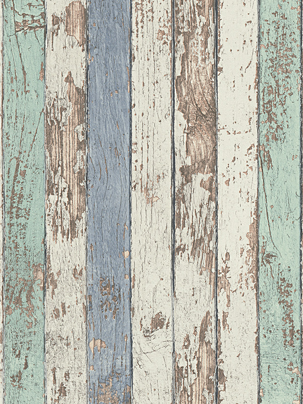 Price Right Home Narrow Wood Planks Wallpaper Blue - AS Creation 9591-41