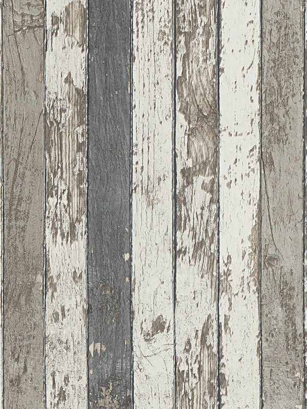 Price Right Home Narrow Wood Planks Wallpaper Grey - AS Creation 9591-42