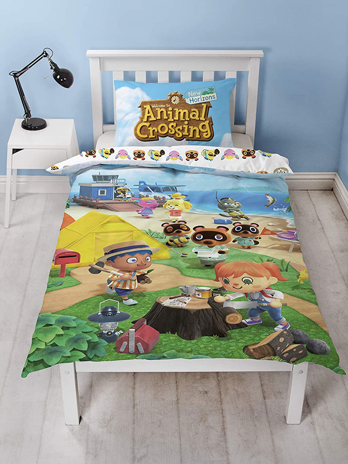 Animal Crossing Single Duvet Cover and Pillowcase Set