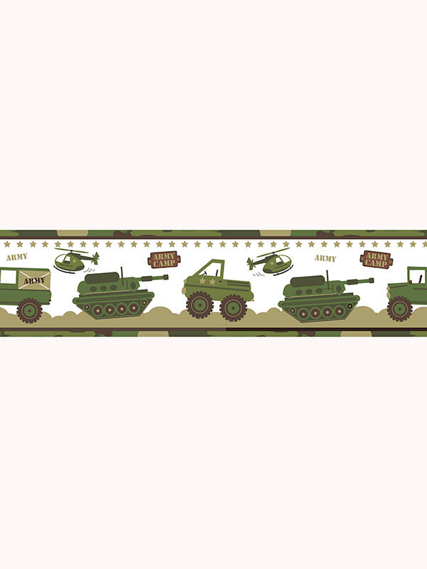 Price Right Home Army Camp Wallpaper Border A12804