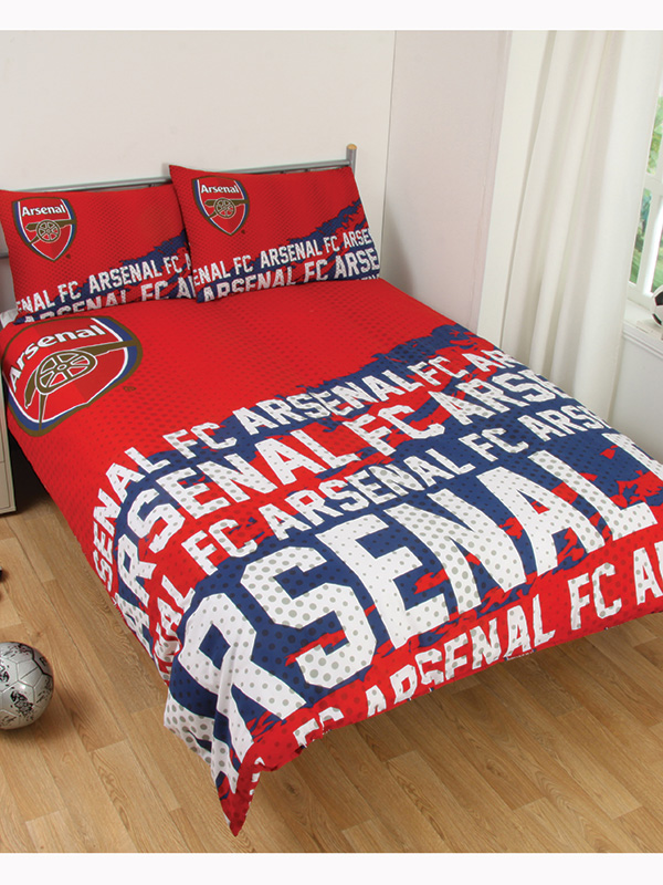 arsenal fc impact double duvet cover and pillowcase set