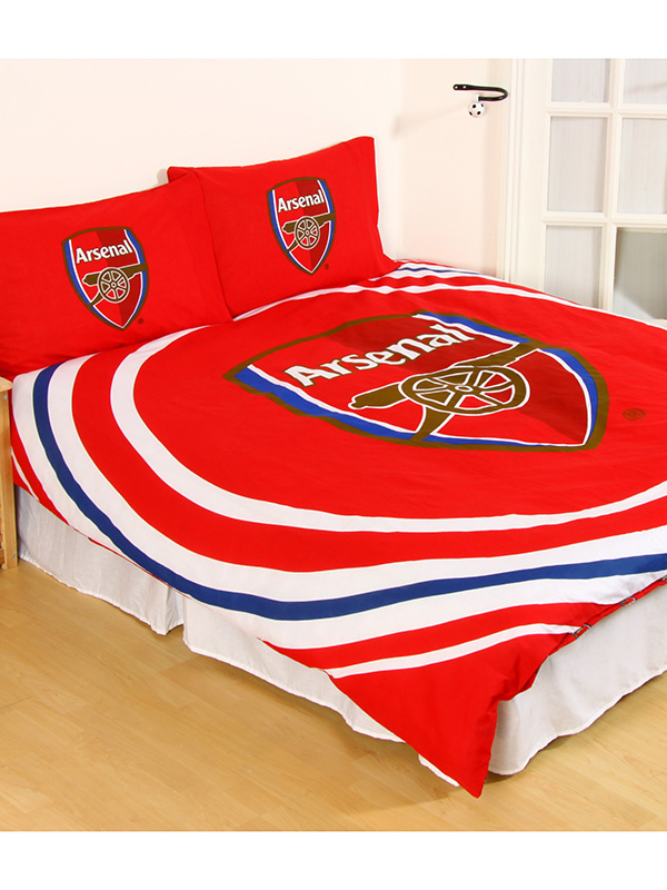 Arsenal FC Pulse Double Duvet Cover and Pillowcase Set