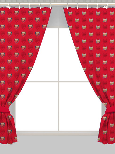 Arsenal FC Crest Curtains