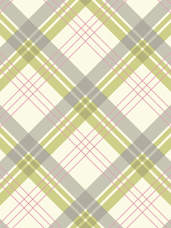Fairburn Tartan Wallpaper GreenPink Arthouse 252702