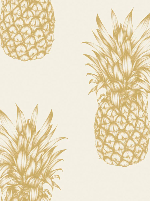 Tropics Copacabana Pineapple Wallpaper Gold Arthouse 690901