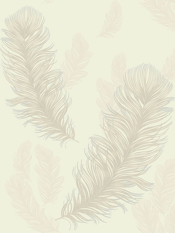 Precious metals sirius feathers wallpaper pearl for Arsenal mural wallpaper