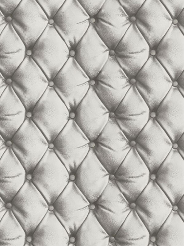 Price Right Home Desire Chesterfield Leather Effect Wallpaper Silver Arthouse 618104