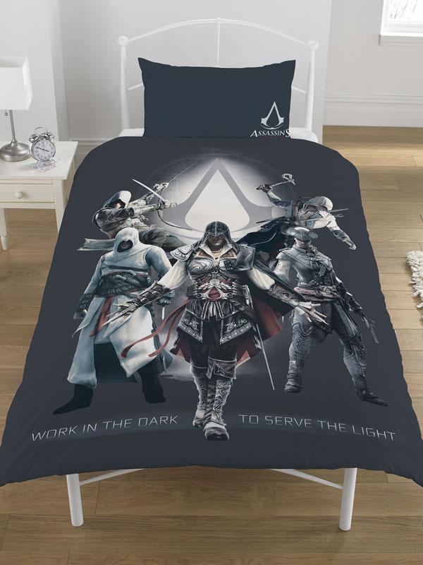 Assassin's Creed Serve the Light Single Duvet Cover Set