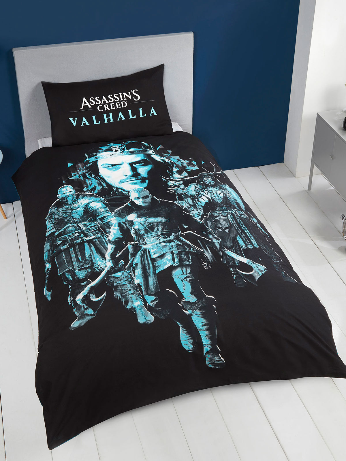 Assassin's Creed Valhalla Single Duvet Cover and Pillowcase Set