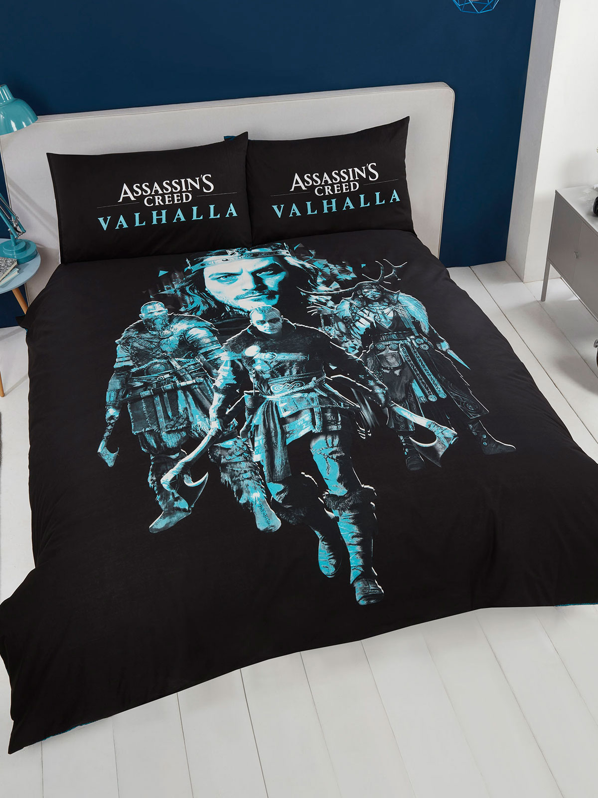 Assassin's Creed Valhalla Double Duvet Cover and Pillowcase Set