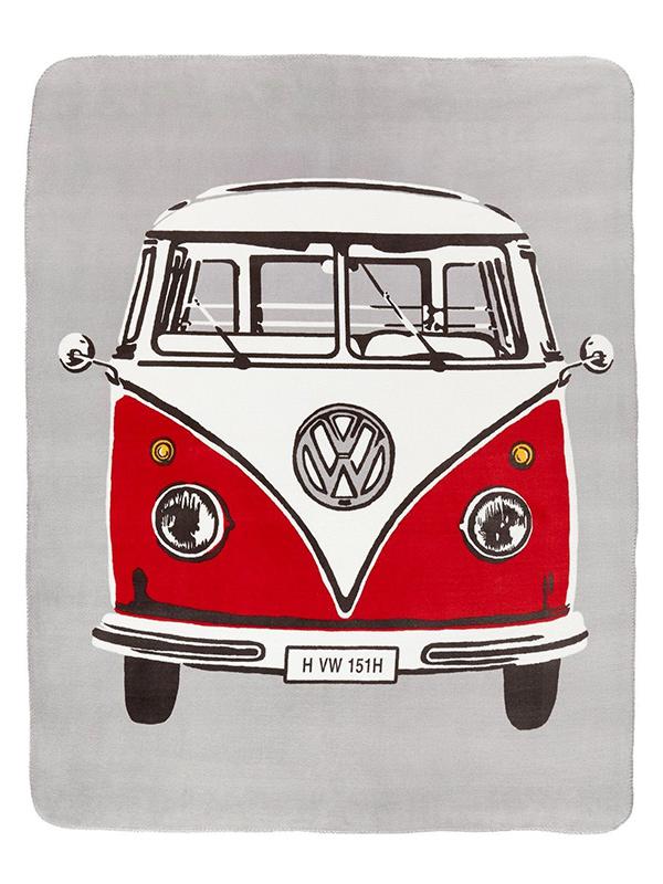 volkswagen retro campervan throw blanket