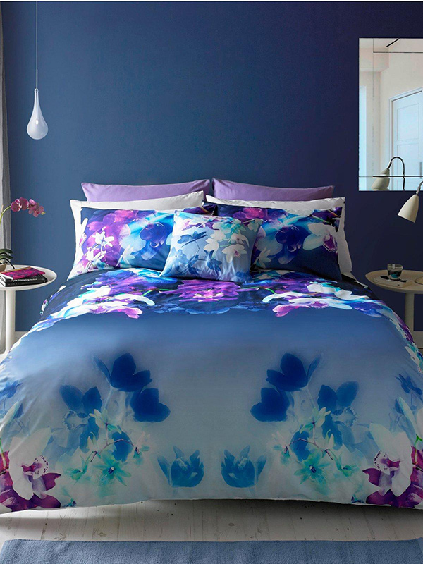Price Right Home Lipsy London Mirrored Orchid Double Duvet Cover and Pillowcase Set