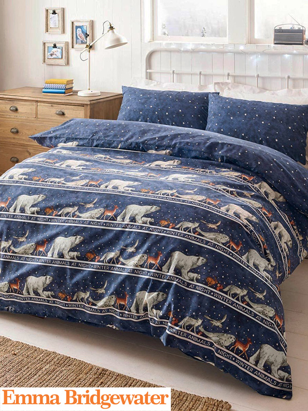 Price Right Home Emma Bridgewater Winter Animals Double Duvet Cover and Pillowcase Set