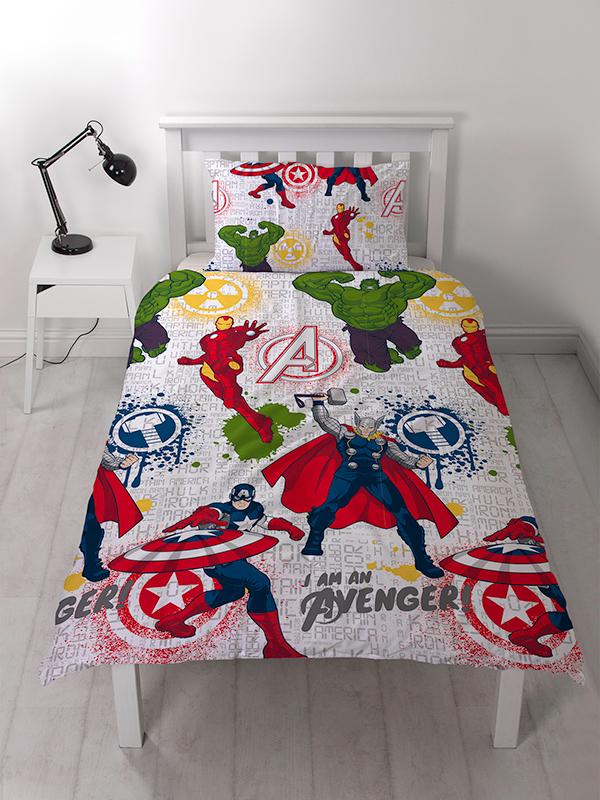 Marvel Avengers Mission Single Duvet Cover Set - Rotary Design