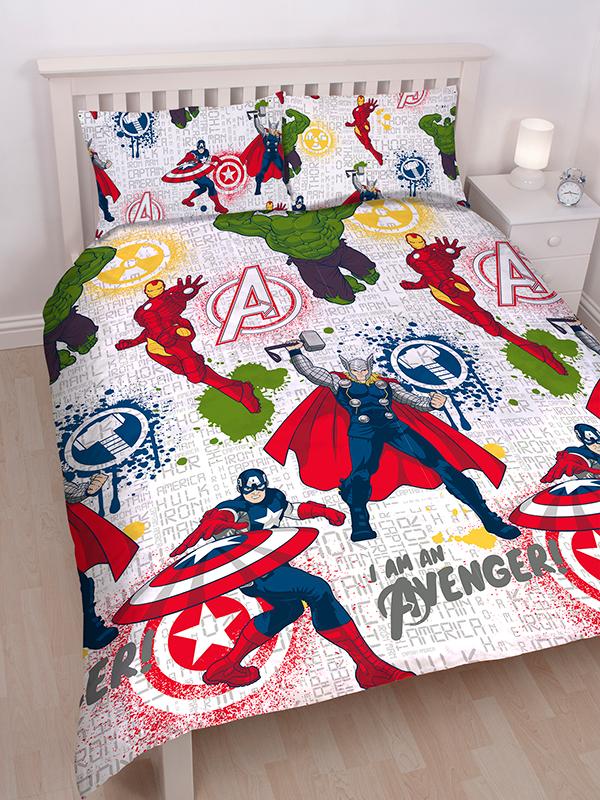 Marvel Avengers Mission Double Duvet Cover Set - Rotary Design