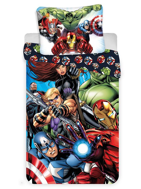 Marvel Avengers Single Cotton Duvet Cover and Pillowcase Set -