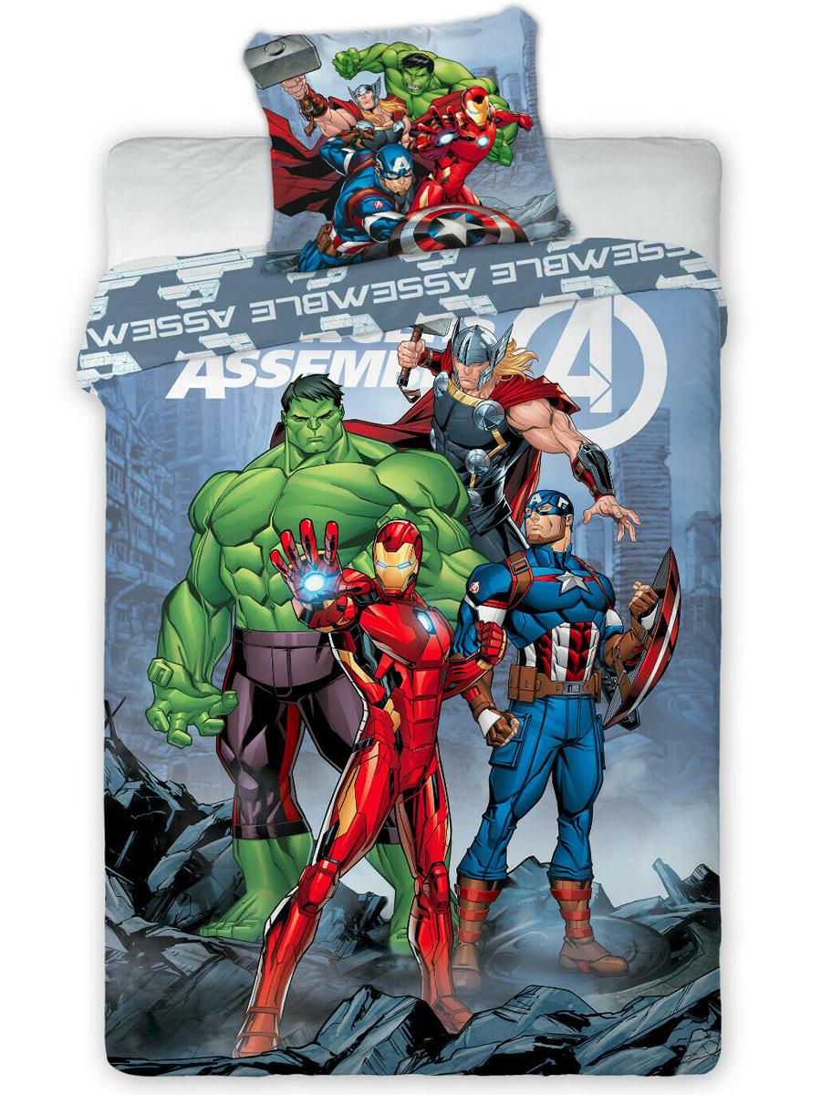 Marvel Avengers Assemble Single Duvet Cover Set - European Size