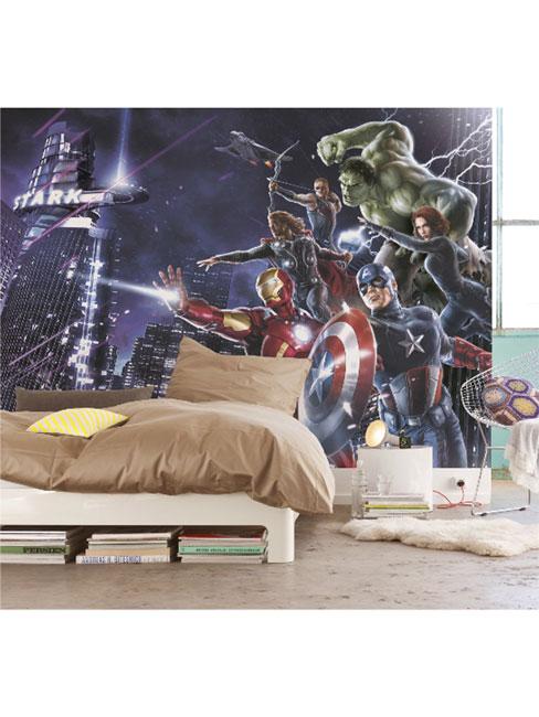 Avengers Citynight Photo Wall Mural 254 x 184cm