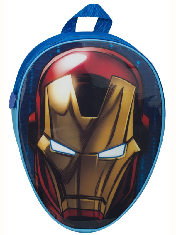 Avengers Iron Man Head Shaped Junior Backpack