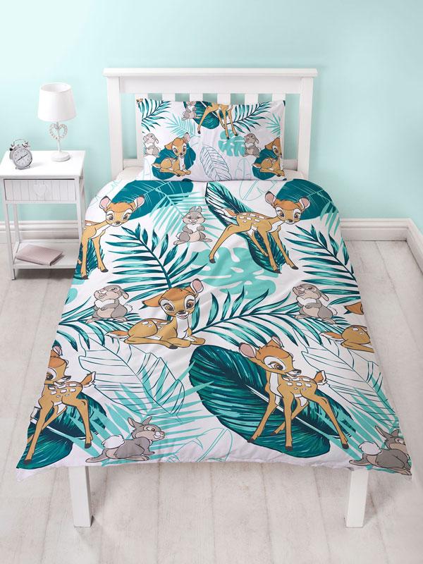 Bambi Palm Leaf Single Duvet Cover Set