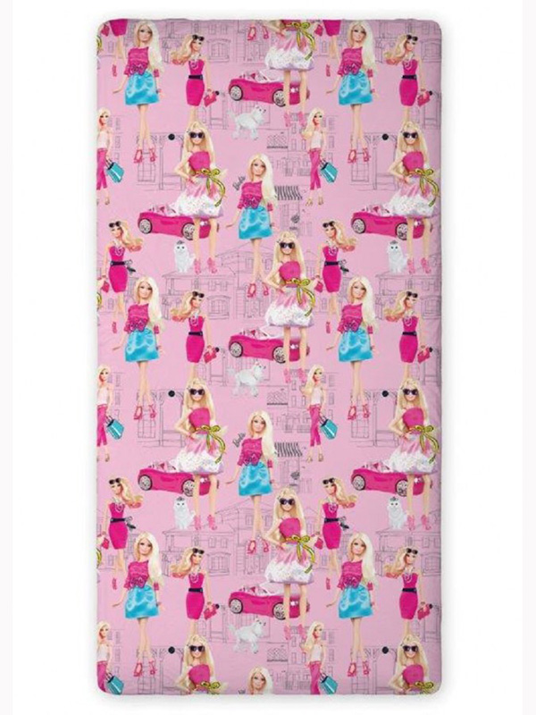 Barbie Single Fitted Sheet