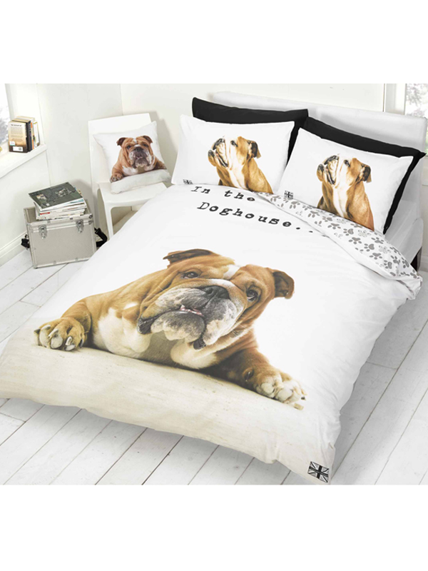 barry bulldog double duvet cover and pillowcase set