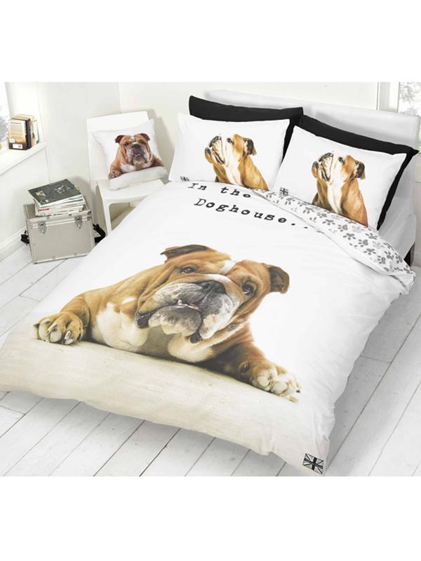 barry bulldog single duvet cover and pillowcase set