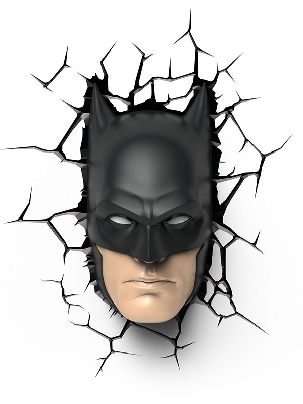 Batman Mask 3D LED Wall Light