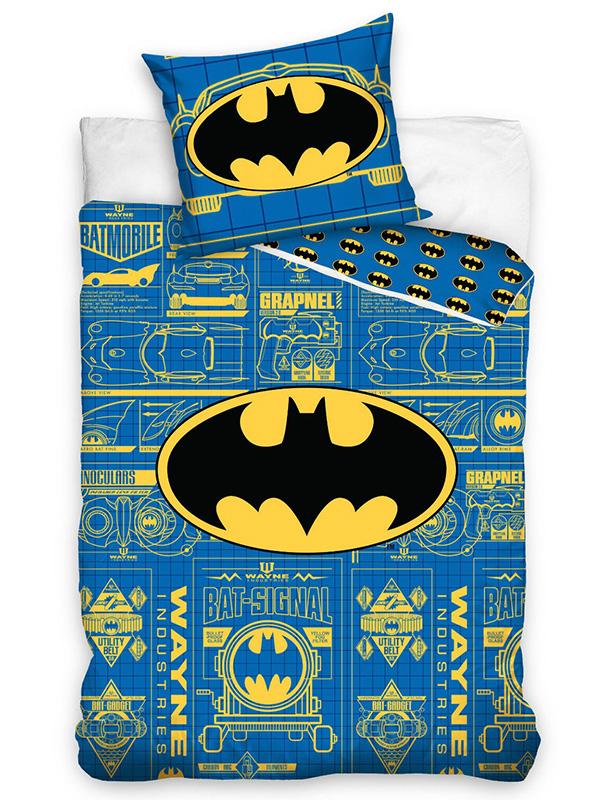 Batman Logo Blue Single Duvet Cover and Pillowcase Set