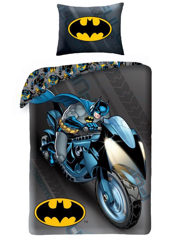 Batman Batcycle Single Duvet Cover and Pillowcase Set thumbnail