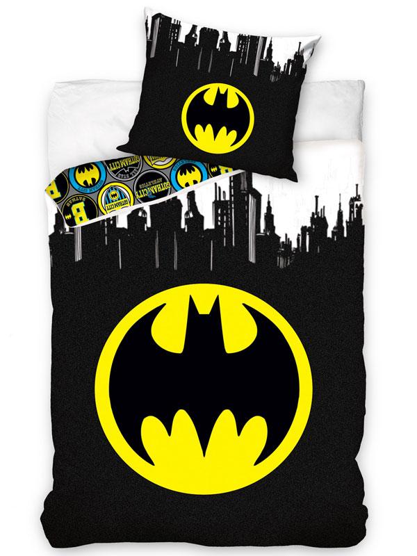 Batman Logo Gotham Single Duvet Cover and Pillowcase Set - European