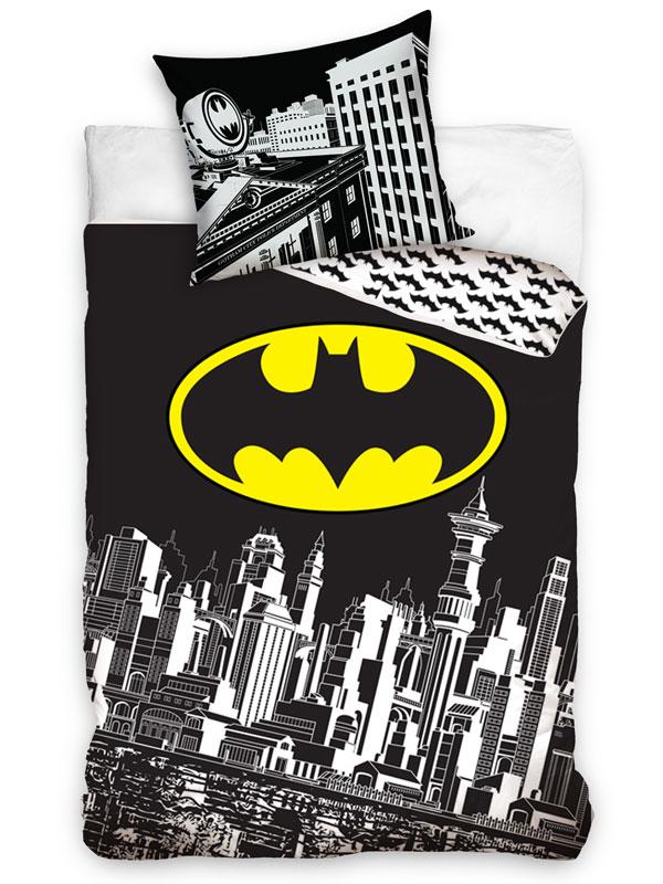 Batman Gotham City Single Cotton Duvet Cover Set - European Size