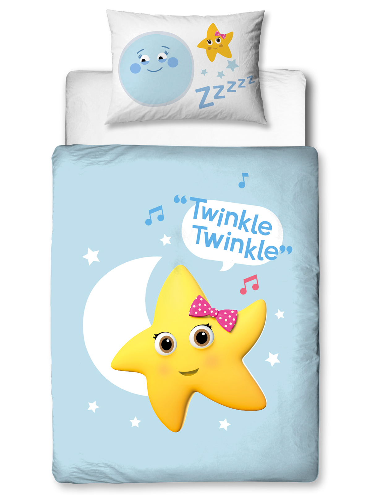 Little Baby Bum Star 4 in 1 Junior Bedding Bundle (Duvet, Pillow and