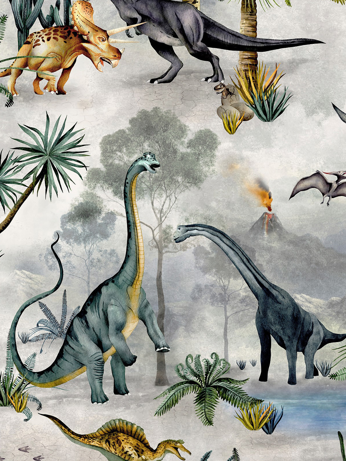 Dino Kingdom Wallpaper Multi Belgravia 7700