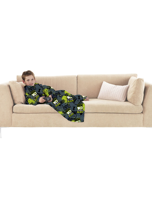 Ben 10 Ultimate Alien Sleeved Snuggle Fleece Blanket