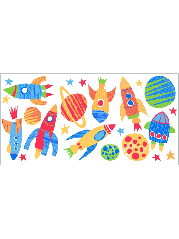 Blast Off Wall Stickers 23 Pieces