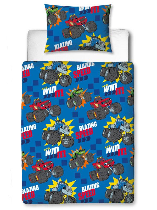 Blaze Zoom 4 in 1 Junior Bedding Bundle Set (Duvet, Pillow and Covers)