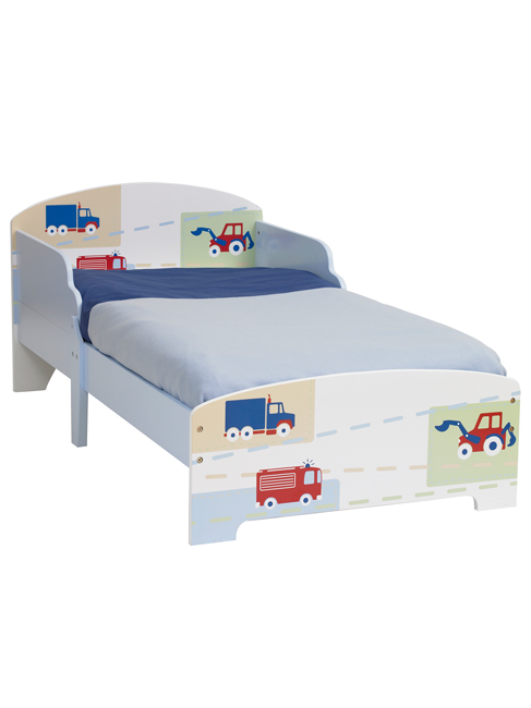 Boys Vehicle Junior MDF Toddler Bed and Foam Mattress