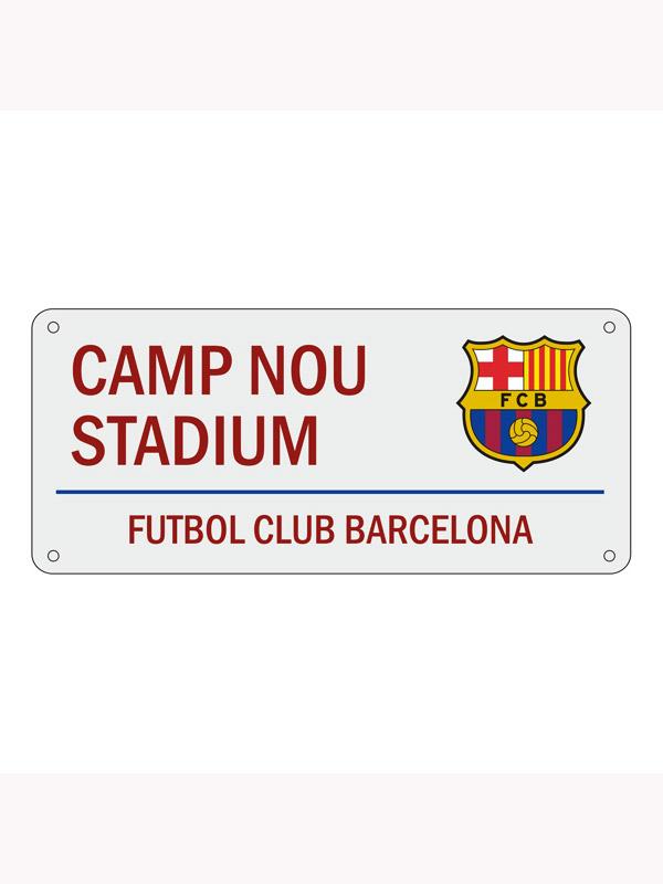 FC Barcelona Camp Nou Street Sign