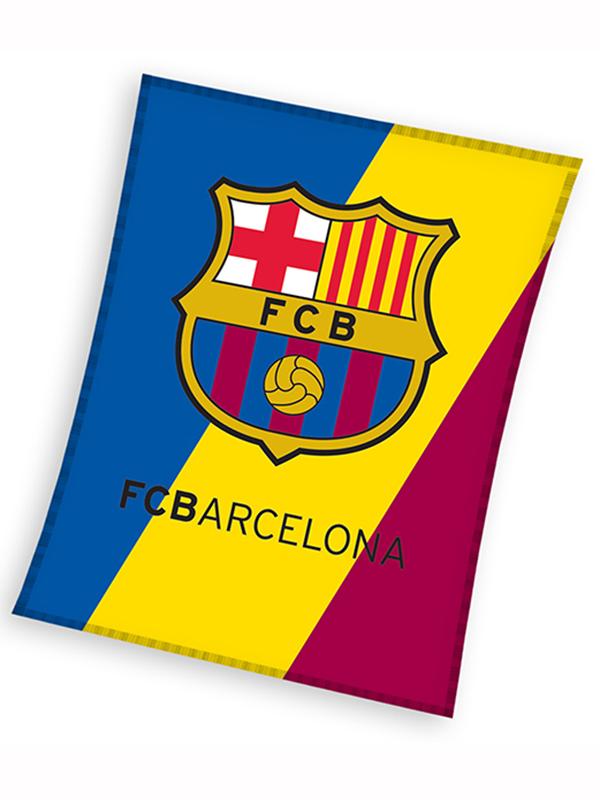 FC Barcelona Crest Fleece Blanket