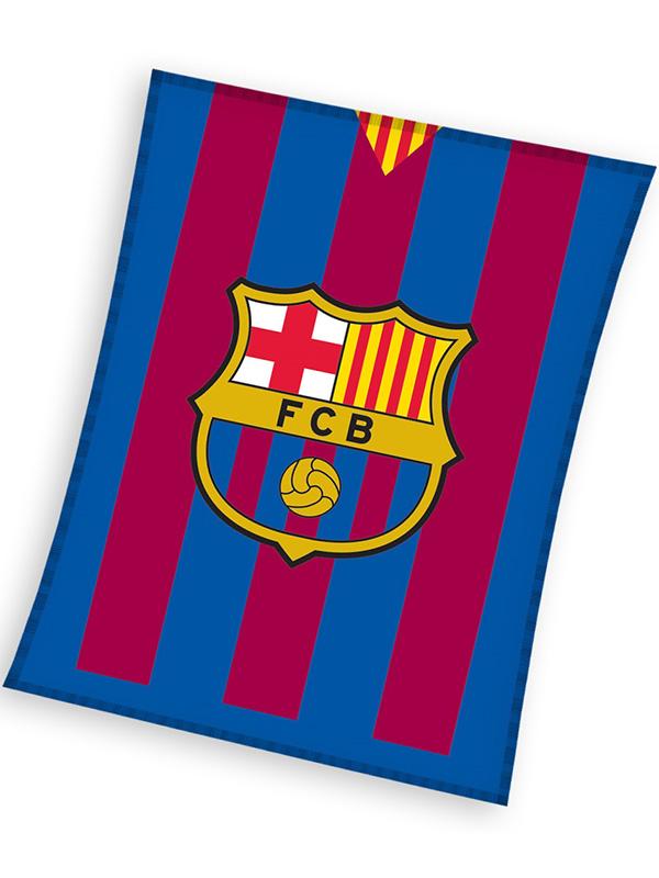 FC Barcelona Stripe Fleece Blanket