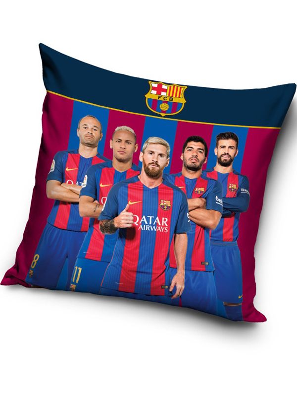 fc barcelona messi stars filled cushion