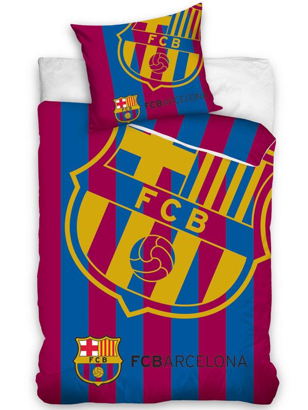 FC Barcelona Corner Logo Single Duvet Cover Set - European Size