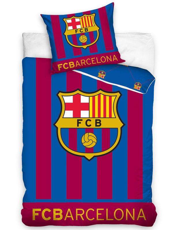 FC Barcelona Glow In the Dark Single Duvet Cover Set - European Size