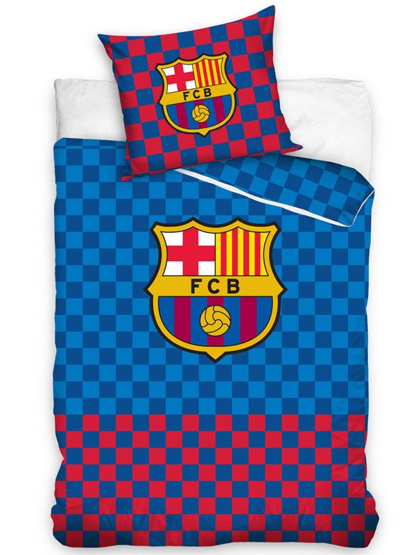 FC Barcelona Checked Single Duvet Cover Set - European Size