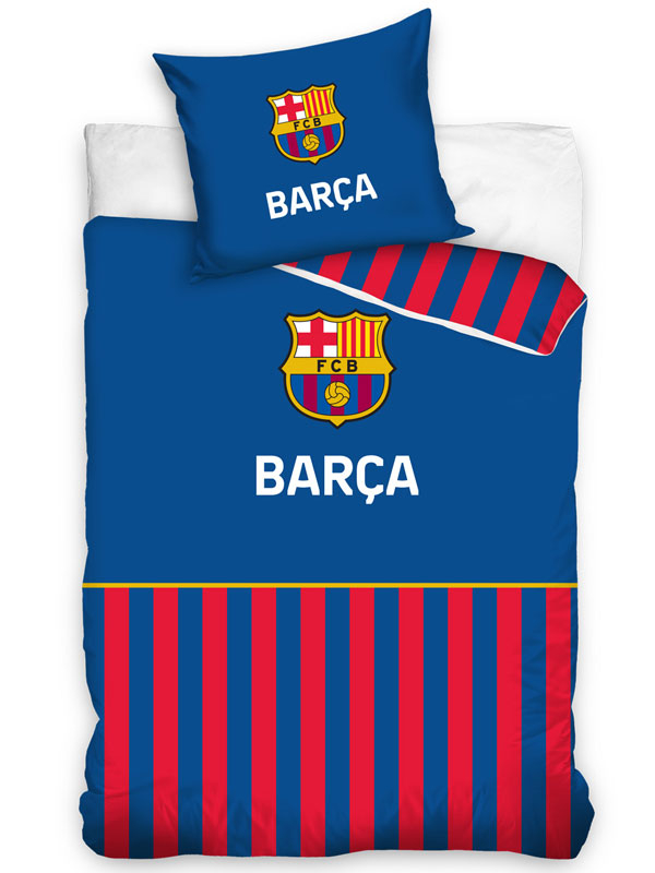 FC Barcelona Barça Stripe Single Duvet Cover Set - European Size