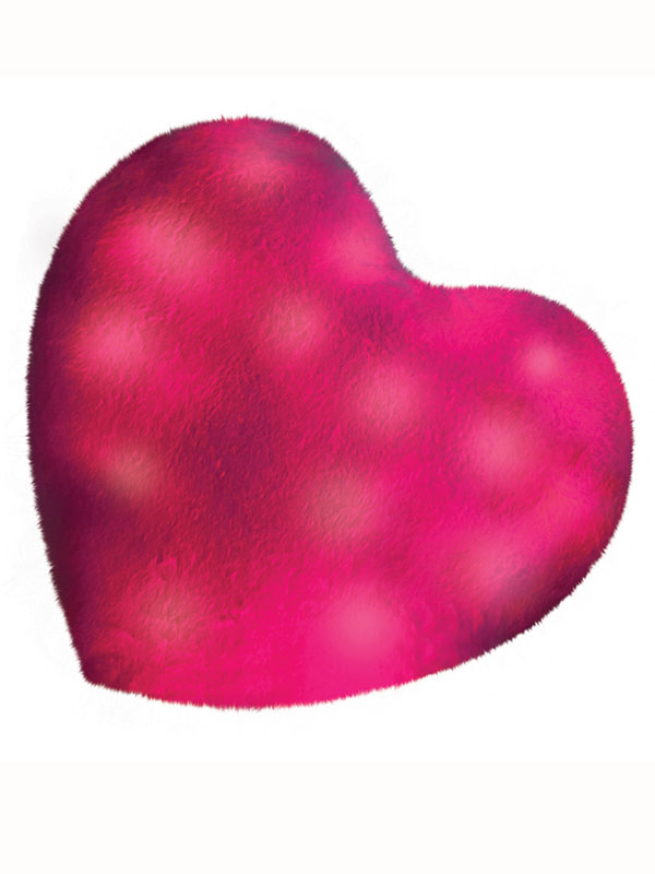 Bright Light Pink Heart Pillow